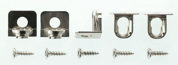 Fitted shelf fixings wardrobe system